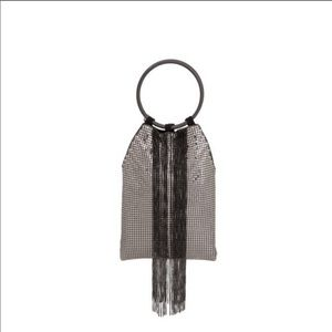 Whiting & Davis Cascading Fringe Wristlet Bag